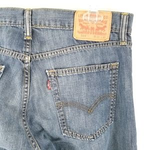 Levi's 514 Mens Blue Jeans Sz 33x30 Slim Straight